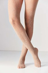 Urban Outfitters Floral Lace Tight Taupe
