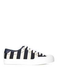 Gucci Striped Canvas Low Top Trainers