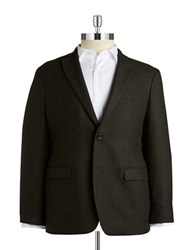 Lauren Ralph Lauren Two Button Wool Blazer Dark Olive