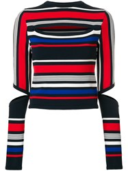 Tommy Hilfiger Cut Out Striped Top Multicolour
