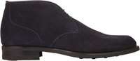 Isaia Suede Chukka Boots Blue Size 11