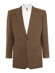 Chester Barrie Classic Linen Jacket Olive
