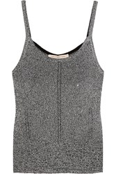Christopher Kane Metallic Knitted Camisole Silver
