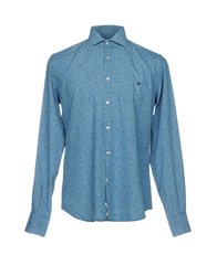 Brooksfield Denim Shirts Blue