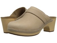 Crocs Sarah Leather Clog Sand Women's Clog Mule Shoes Beige