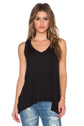 Splendid Drapey Lux V Neck Tank Black