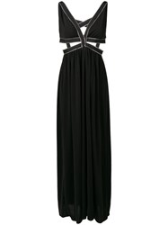 Each X Other Zipped Trim Evening Gown Black