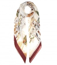 Loro Piana Printed Silk And Cashmere Blend Scarf Multicoloured