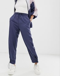 Native Youth Tracksuit Bottoms With Toggles Co Navy