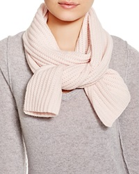C By Bloomingdale's Ribbed Cashmere Scarf Blush