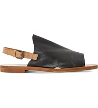 Dune Lilymay Leather Sandals Black Leather