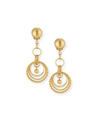 Jose And Maria Barrera 24K Gold Plated Chain Drop Clip On Earrings