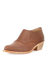 Cynthia Vincent Nice Tumbled Leather Ankle Boot Chocolate