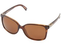 Von Zipper Castaway Polarized Tort Bronze Poly Polar Sport Sunglasses Brown