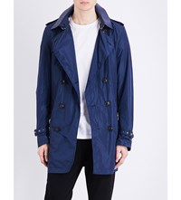 Burberry Kensington Packable Shell Trench Coat Ink Blue