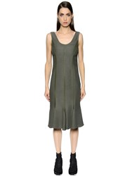 Salvatore Ferragamo Flared Light Crepe Sable Dress
