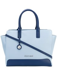 Armani Jeans Logo Plaque Tote Bag Women Polyester One Size Blue