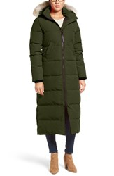 Canada Goose Women's 'Mystique' Regular Fit Down Parka With Genuine Coyote Fur Trim Military Green