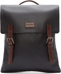 Dolce And Gabbana Black And Brown Leather Backpack
