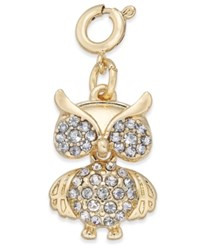 Inc International Concepts Gold Tone Crystal Owl Charm Only At Macy's