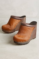 Anthropologie See By Chloe Studded Wood Mules Tan