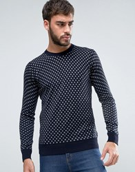Scotch And Soda Cotton Pullover Jumper Navy