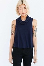 Cooperative Swing Into Me Turtleneck Tank Top Blue