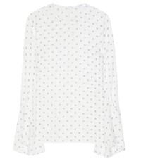 Givenchy Printed Silk Blouse White