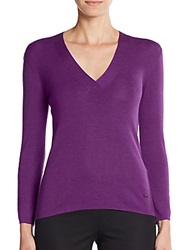 Akris Cashmere And Silk Sweater Violet