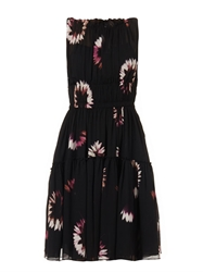 Nina Ricci Floral Print Silk Chiffon Dress