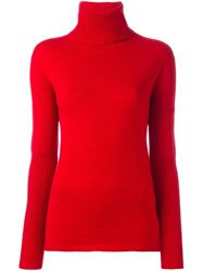 Michel Klein Ribbed Turtleneck Sweater Red