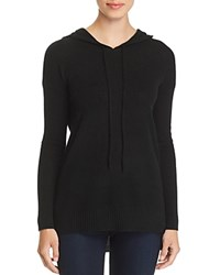 Bloomingdale's C By Long Cashmere Hooded Sweater 100 Exclusive Black