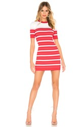 Amanda Uprichard Striped Sweater Dress Red