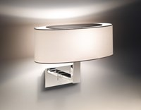 Bover Mei Oval 02 Wall Sconce Black Cream White