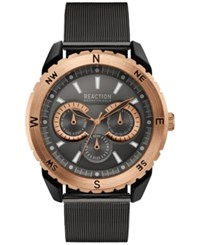 Kenneth Cole Reaction Men's Brown Stainless Steel Mesh Bracelet Watch 49Mm 10030938 Gunmetal