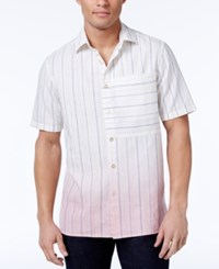 Sean John Men's Dip Dye Pinstripe Shirt Only At Macy's Sj Cream
