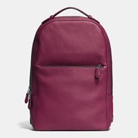 Coach Metropolitan Soft Backpack In Refined Pebble Leather Black Antique Nickel Burgundy B