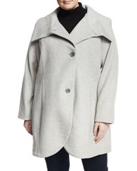 T Tahari Charlotte Wool Blend Coat Gray
