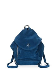 Manu Atelier Mini Fernweh Suede Convertible Backpack Blue