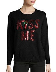 Context Kiss Me Christmas Sweater Black