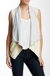 Tart Asymmetrical Vegan Leather Vest White