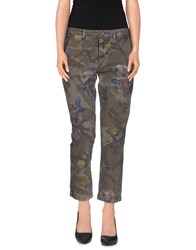 40Weft Trousers 3 4 Length Trousers Women Military Green