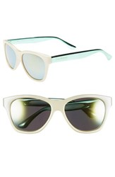 Women's Isaac Mizrahi New York 55Mm Retro Sunglasses Ivory Blue