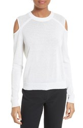 Milly Women's Cold Shoulder Pullover White