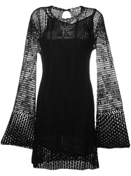 Mcq By Alexander Mcqueen Perforated Dress Black