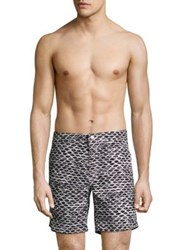 Onia Calder 7.5 Swim Trunks White Black