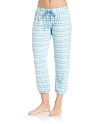Splendid Striped Cropped Pajama Pants Tropical Stripe