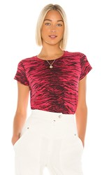 Pam And Gela Tiger Crop Tee In Red.