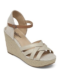 Lucky Brand Espadrille Wedge Sandals Mahima Metallic