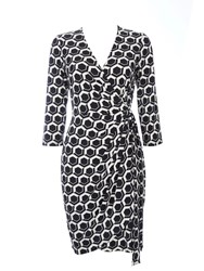 Wallis Petite Mono Geo Printed Wrap Black White